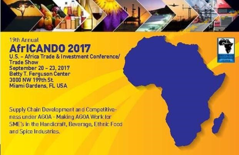 19th Annual AfrICANDO 2017. US - Africa Trade & Investment Conference Trade Show