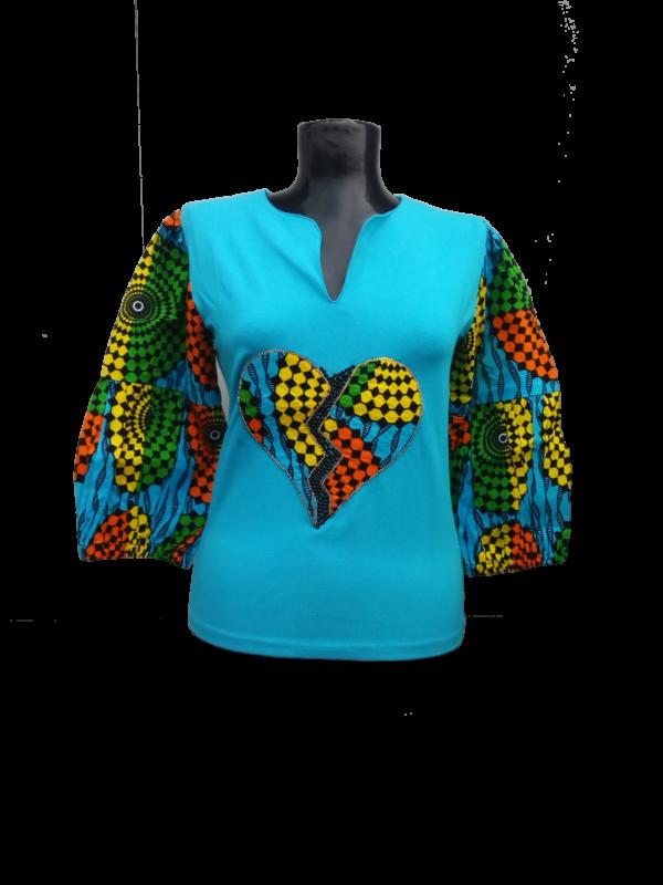 Afrikoncept 'Dahlia' Blue Blouse