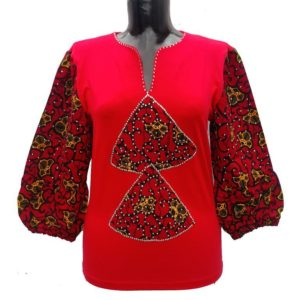 Afrikoncept 'Dahlia' Red Blouse