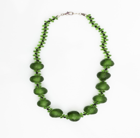 Ele Agbe Company: Mb Green Coil Necklace
