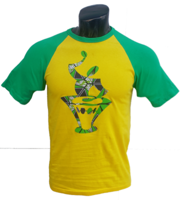 Afrikoncept 'Muscari' Yellow and Green T-Shirt