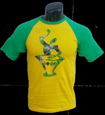 Afrikoncept 'Muscari' Yellow and Green T-Shirt