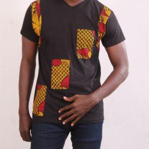 Afrikoncept 'Orchid' Black T-shirt