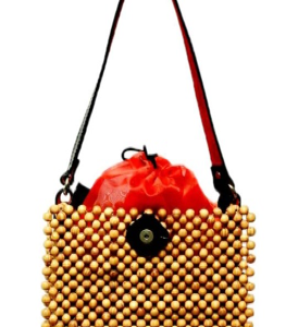 Weave & Co Gallery: Wooden Beaded Purse