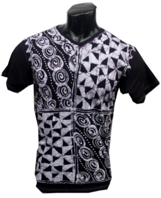 Afrikoncept Black and White V-Neck