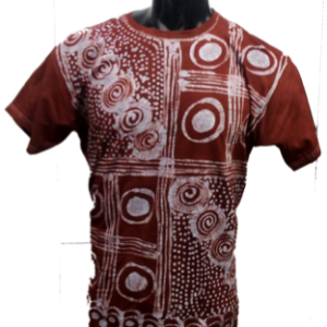 Afrikoncept Red and White V-Neck