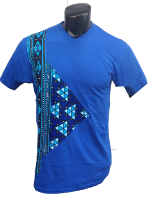 Afrikoncept Blue 'Orchid' T-Shirt