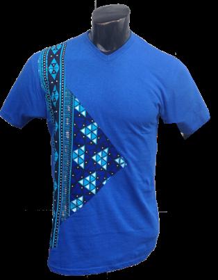Afrikoncept Blue 'Orchid' T-Shirt