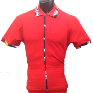 Afrikoncept Red Polo Shirt