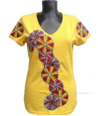 Afrikoncept Yellow Blouse